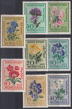 MONGOLIA 1960 SERIE  FIORI FLOWERS FLEURS 8 Valori 163-70  Yvert MNH**