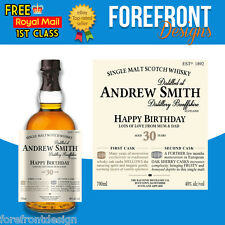 Personalised Scotch Whiskey/Whisky Bottle Label, Perfect Birthday/Wedding Gift
