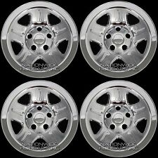"4 CHROME 93-06 Jeep Wrangler Cherokee 15"" Wheel Skins Hub Caps Wheels Rim Covers"