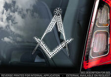 Freemasons - Car Window Sticker - Stonemasons Masonic Symbol - UK Logo -TYP2