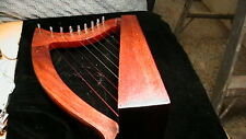 T1 MINATURE IRISH HARP 9 STRING 12 IN. HIGH X 9 IN. DEEP X 4 IN. THICK NO MAKERS