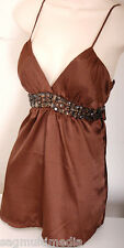 XXI Forever 21 sexy brown cami top S clubbing