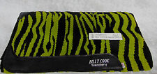 NEW Billy Cook Saddlery Wool HORSE SADDLE PAD Blanket Zebra Green USA 34x36
