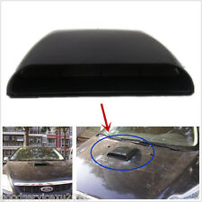 1X Black Simulation Car SUV Front Hood Air Flow Intake Scoop Decor Sticker Cover