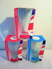 3 x McDONALD'S 'COCA-COLA LONDON 2012 OLYMPIC GAMES GLASSES