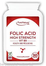 365 Folic Acid 400mcg Tablets & Vit B9 High Strength Healthy Pregnancy support