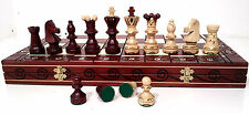 "EXCLUSIVE ""AMBASSADOR DE LUX"" - GENUINE HAND CRAFTED FAMOUS WOODEN CHESS SET!"