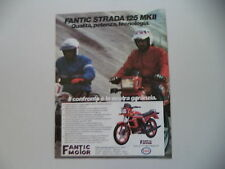 advertising Pubblicità 1984 MOTO FANTIC STRADA 125 MKII