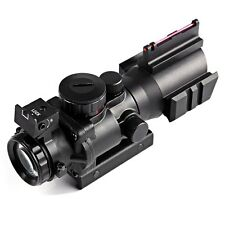 Hunting 4 X 32 Red Dot Compact Rifle Scope Fiber Rifle Sight for 20MM Rail New