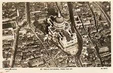 St Pauls Cathedral Air Aerial View London unused RP old pc Aerofilms