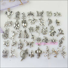 40Pcs Mixed Tibetan Silver Animals Charm Pendant Horse Butterfly Dragon etc.F145