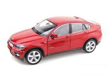BMW X6 In Red 1:18 Diecast model Car. Die Cast Toy From Welly