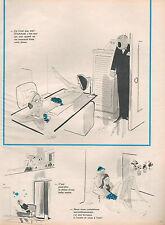 ▬►  Dessin Humoristique KIRAZ Le soleil brille pour lesParisiennes 1974 2 pages