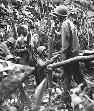 WWII Photo US Army Mortar Crew Danger Close Fire   WW2 B&W World War Two / 1200