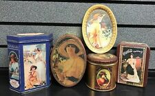 Coca-Cola  4 Tins & 1 Tray Lot | Vintage Women | SHIPS Fast