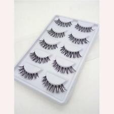 5 Pairs Lot Long Makeup Black False Eyelash Eye Lash Extension Cross