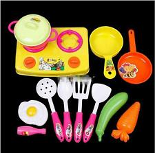 1Set Kids Child Chef Kitchen Cookware Food Play Spoon Pan Pot Toys Plastic LA
