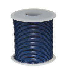 """20 AWG Gauge Solid Hook Up Wire Blue 100 ft 0.0320"""" UL1007 300 Volts"""