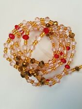 """African Gold Mix Single Waist Beads, Body Jewellery, 44""""""""inches long New"""