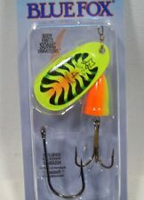 Blue Fox Super Vibrax 3/8 #4 Firetiger Treble Siwash Trolling Fishing Lure New