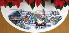 Dimensions Needlecrafts Counted Cross Stitch, Sleigh Ride Tree Skirt, New, Free