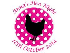 35 Personalised Hen Party Night Stickers Pink Polka Dot 3for2 Labels 095 Night