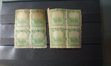 CNMG08 China stamp Manchukuo Horse Carting Soybeans stamp 1936 MH 2 block of 4