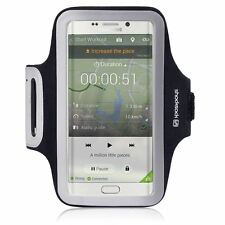 For Samsung Galaxy S6 Edge+ plus Black Shocksock Sports Gym Jog Run Armband Case