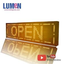 """8"""" X 27"""" Yellow Indoor Programmable LED Scrolling Sign Message Window Display"""