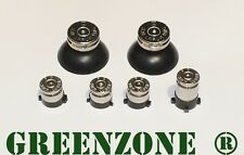Greenzone ® Xbox One 1 Controller Nickel 9mm Bullet Buttons ABXY+ Thumbs Mod Kit