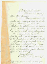 NEW HAMPSHIRE CIVIL WAR LETTER TO HELP A SICK SOLDIER 1864