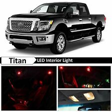 19x Red Interior LED Lights Package Kit 2004-2015 Titan Truck