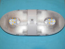 12V DOUBLE LED LIGHT FIXTURE WITH ON/OFF RV CAMPER LAMP TYPE 921 LED
