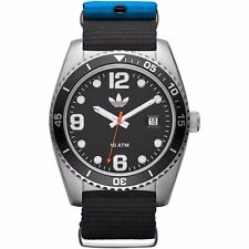 Adidas Mens ADH2866 Brisbane Black Dial Stainless Steel Case Canvas Strap Watch