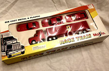 Maisto Die Cast, FERRARI RACE TEAM TRACTOR TRAILER & 3 CARS, MIB