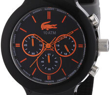 DISPLAY ITEM $195 Lacoste Borneo Chrono Silicone Mens Watch 2010655 DAMAGED BOX