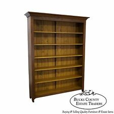 Hand Crafted Large Shaker Sassafras Wood Open Bookcase
