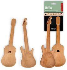 Salatbesteck Gitarre Holzlöffel Rockin Spoons Set aus Holz Kochlöffel NEU