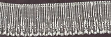 """2&1/2"""" IVORY PLEATED LACE FABRIC TRIM 15 YARDS SEWING TRIMMING DOLL CLOTHING"""