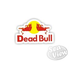 Dead bull voiture van autocollant decal drôle logo remake autocollants red bull