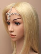Women Fashion Metal Rhinestone Head Chain Headband Head Piece Hair band Jewel