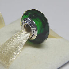 Authentic Pandora Charm 791619 Fascinating Green Murano  Bead Box Included