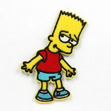 New 1x Bart Simpson Iron Sew On Patch 9 x 5cm Crafts Party Favours