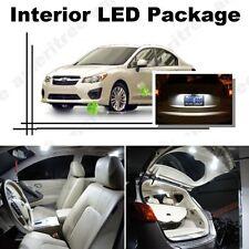 For Subaru Impreza WRX 2004-16 Xenon White LED Interior kit +White License Light