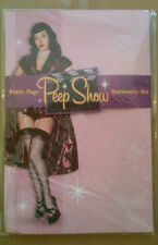 """BETTIE PAGE """"PEEP SHOW"""" STATIONERY SET"""