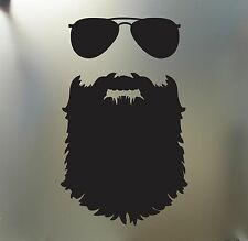 Beard sticker Funny glasses JDM Auto decal mustache hipster nerd