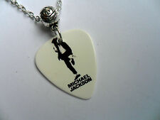 MICHAEL JACKSON  Double Sided Guitar Pick  //  Plectrum  Silver  Necklace