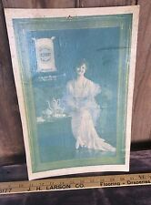 Vintage Occident Flour Paper Advertising , Cardboard Plastic Protected