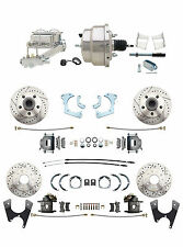 1965-68 Chevy Impala 4 Wheel Disc Brake Conversion Kit w/ Chrome Booster Kit