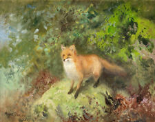 Stoopendall Mosse Fox In A Landscape Canvas 16 x 20  #3047